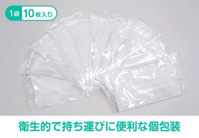 「じょーじのますく」衛生的で持ち運びに便利な個包装