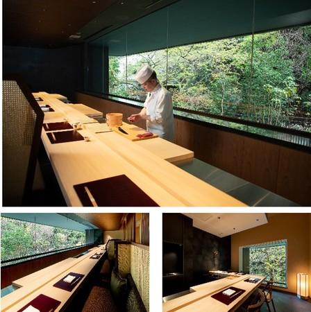 景色と共に食事をお愉しみながらプライベート性も高いカウンター席と個室