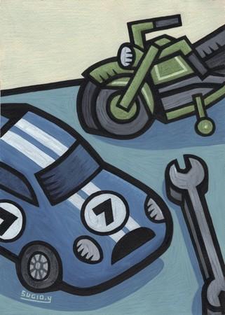 (C)山崎杉夫「Blue Car]」