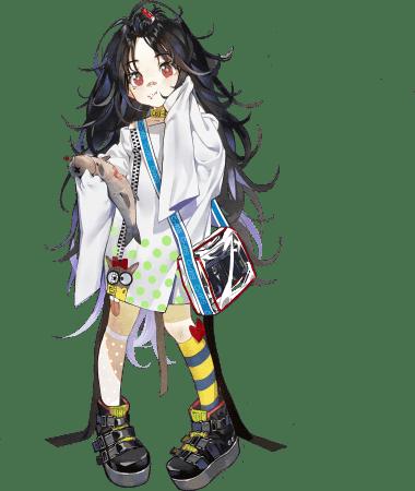 ★5 SMG C-MSのスキン「ガチョウのふしぎな旅」 いつもよりもかなりぶかぶかな服を着たC-MS。魚を片手にどこへ旅をするのだろう。