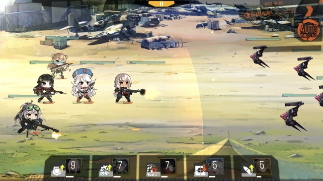▲ 戦闘は基本的にオートで進行する。部隊を編成する際に 陣形をしっかり考えることが勝利への鍵となる。