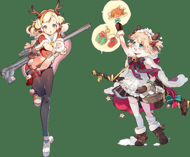 ▲左:OTs-44専用スキン『森のトナカイさん』、右:Gr G36専用スキン『子供たちのクリスマス』