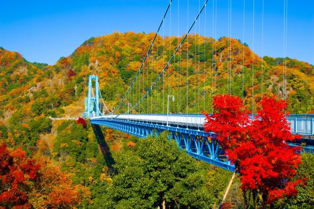 竜神大吊橋と紅葉2.