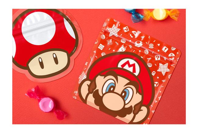 ジッパーバッグ(マリオ/スーパーキノコ)(各柄5枚入り) 800円+税