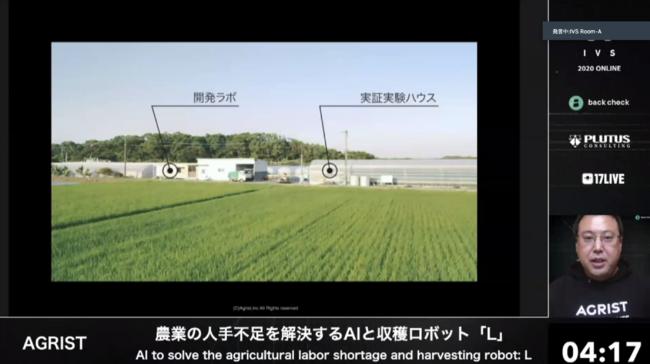ビニールハウスを実証実験の場として借り、その数メートル先に開発拠点をもって、収穫ロボットを農家と共同開発