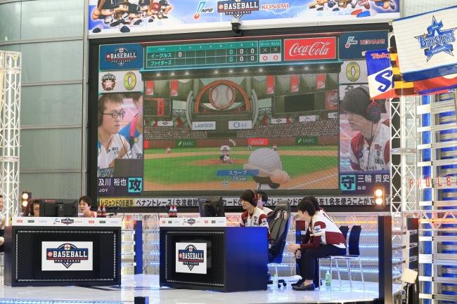 レジェンドOB:石井一久選手vs小笠原道大選手、夢の対決が実現! ⓒNippon Professional Baseball  ⓒKonami Digital Entertainment