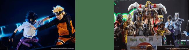 写真左:コスプレ ゲスト パフォーマンス、右:世界コスプレサミット サウジアラビア代表選考会