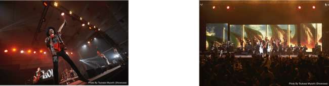 写真左:FLOW、右:Linked Horizon