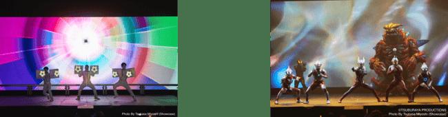 写真左:白A、右:ULTRAMAN LIVE in SAUDI 2019