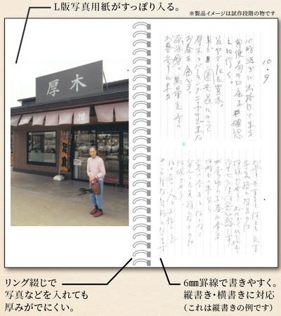 おぼえている手帳の製品イメージです。記録と写真を蓄積して記憶のかわりにします