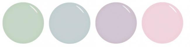 ▲左から、ペパーミントティー(SJS-193S)、シーソルト(SJS-194S)、ラベンダーのアロマ(SJS-195S)、ルミエール(SJS-196S)