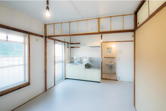 プロジェクトに参加される方に提供する府営住宅の一室(DIY後)