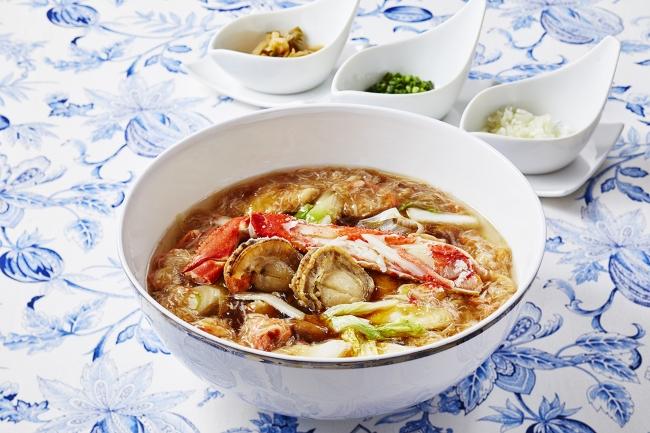 蟹と帆立の広東麺