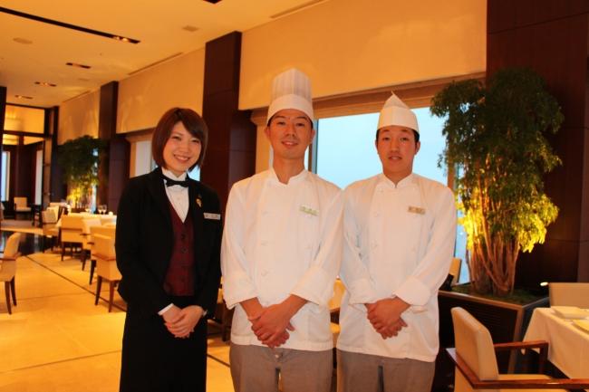 写真左より:広田里菜、  皆川泰亮、  鈴木雄也