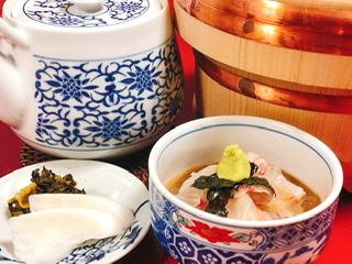 割烹よし田 名物「鯛茶」