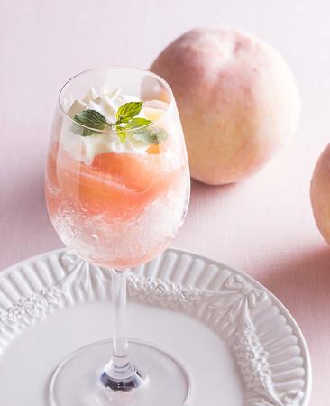 「桃のミニかき氷」イメージ
