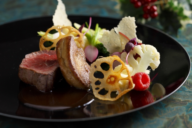 クリスマスランチ メインの肉料理