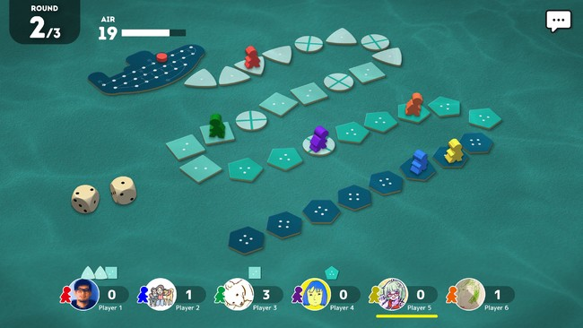 「海底探険」プレイ画面イメージ