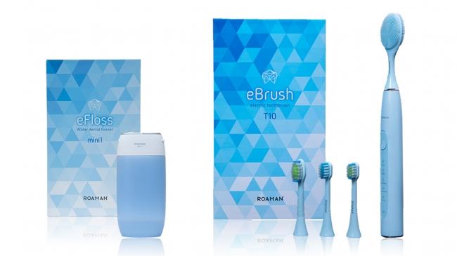 ※画面左:充電式ウォーターフロスmini1/画面右:音波電動歯ブラシT10