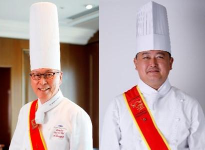 京都ホテルオークラ総料理長 善養寺 明(左)とピトレスク料理長 玉垣 雄一郎(右)