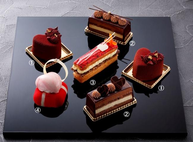 バレンタインカットケーキ各種