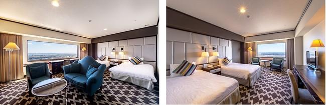 客室イメージ。2つのお部屋を広々とご利用いただけます