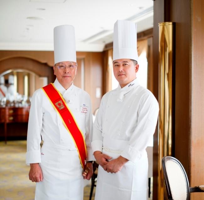 京都ホテルオークラ総料理長 善養寺 明と、  ピトレスク料理長 玉垣 雄一郎