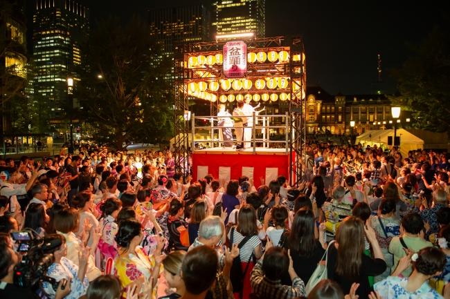 参考 東京丸の内盆踊り2018風景