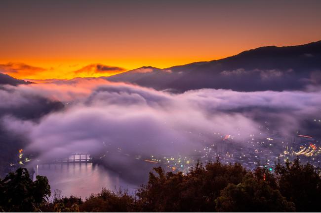 馬場展望台からの雲海景色