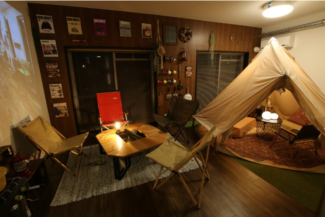 屋内型キャンプルーム