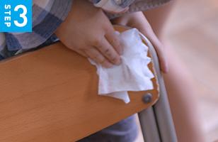 1日1回、この拭き消毒活動を続けることで接触感染のリスクが軽減できる可能性があります。