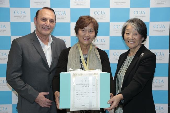 昨年度大賞を受賞された正井さん(中央)