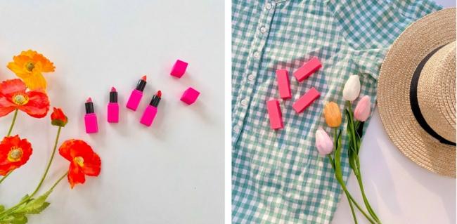 ピンクの可愛いパッケージは写真撮影にもおすすめ