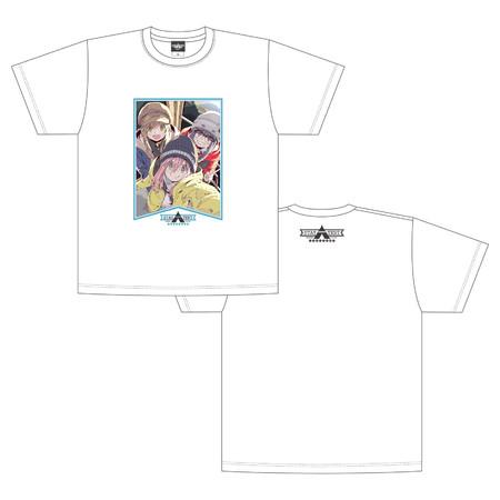 ゆるキャン△_STAY△TENT_Tシャツ 白