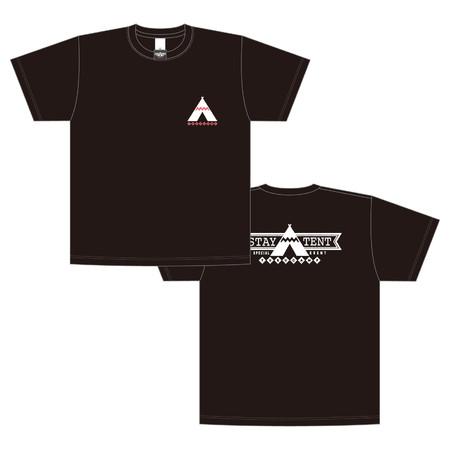 ゆるキャン△_STAY△TENT_Tシャツ ブラック