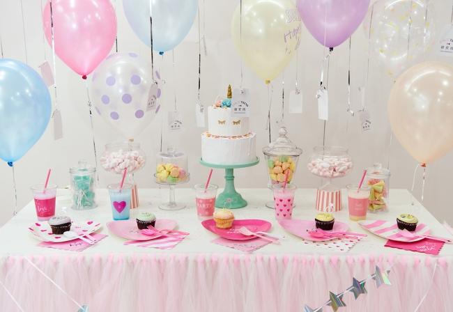 誕生日パーティーをテーマにした装飾例