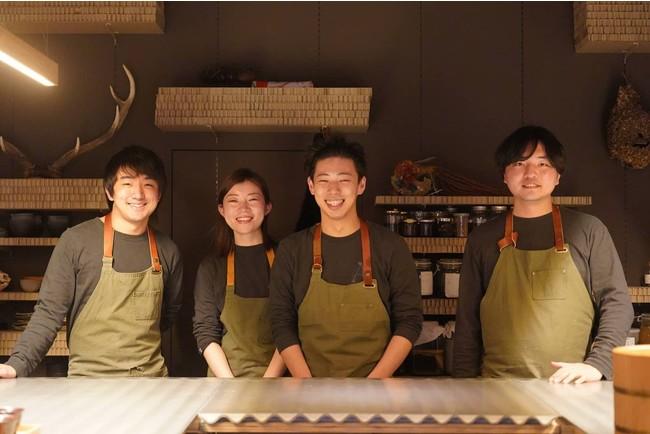 料理人、研究者と個性豊かなメンバー