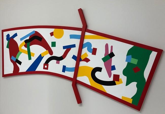 作品名:「BRIDGE」(1階~2階階段) アーティスト名:JUNO MIZOBUCHI