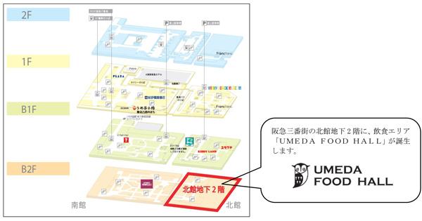「UMEDA FOOD HALL」の場所と概要