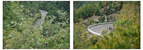愛宕山展望テラスから見たパークウエイの道路