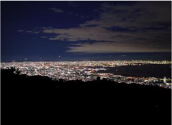 六甲ガーデンテラスからの 1000万ドルの夜景