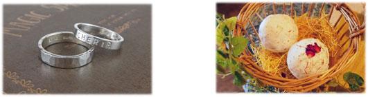 【左】シルバーアクセサリー体験 イメージ 【右】自然派バスアイテム体験 イメージ