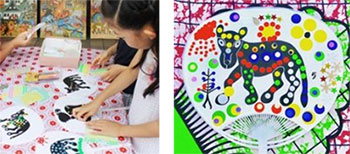 ティンガティンガ・アート うちわ作り体験ワークショップ ※イメージ
