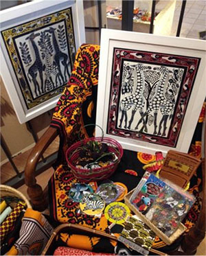 色鮮やかなティンガティンガ・アートや アフリカン雑貨 ※イメージ