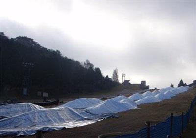 造雪開始から1か月後の様子