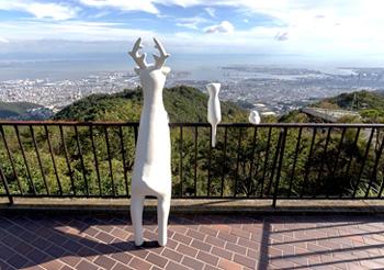 「動物たちも景色を見ている」笠井祐輔  ※破壊される前の展示風景
