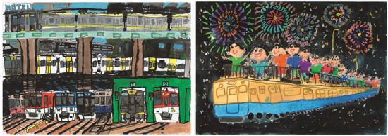 【準大賞作品】(左)伊川 蓮さんの作品 (右)松本 真歩さんの作品