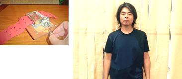 【左】「Sheet Labo」 六甲オルゴールミュージアム【右】日比野克彦 (ひびの かつひこ)