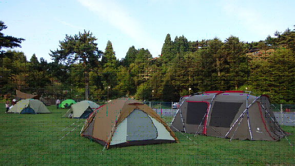 過去のキャンプ体験の様子