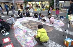 松本かなこ「みんなで咲かすチョークの絵」イメージ